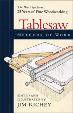 Tablesaw Methods of Work