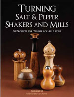 Turning Salt & Pepper Shakers and Mill by Chris West