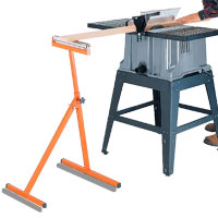 Table Saw Roller Stand. Adjusts in height from 24-1/2-Inch to 42-1/4-Inch.