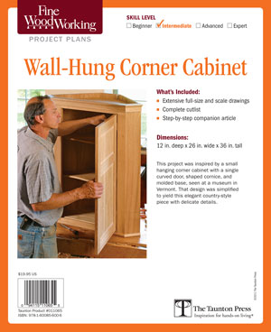 Corner Curio Cabinet Plans, Woodworking Plans and Patterns by