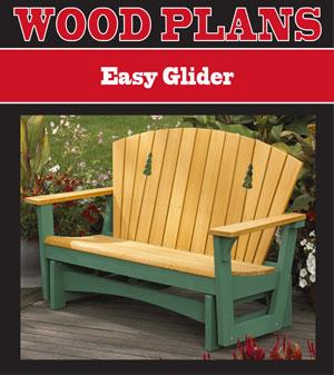 Easy Glider Woodworking Plan