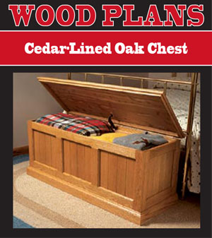Cedar Lined Oak Chest Woodworking Plans