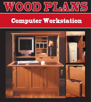 Delicieux Computer Workstation Woodworking Plans