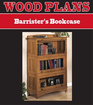 Barristeru0027s Bookcase Woodworking Plan