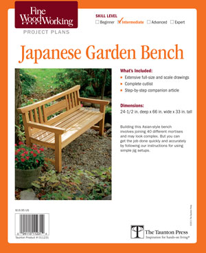 Anese Garden Bench Fine Woodworking Project Plan