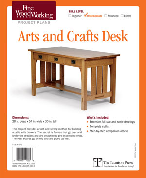 Arts And Crafts Desk Fine Woodworking Project Plan