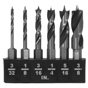 Milescraft® Brad Point Stubby Bit 6 Piece Set