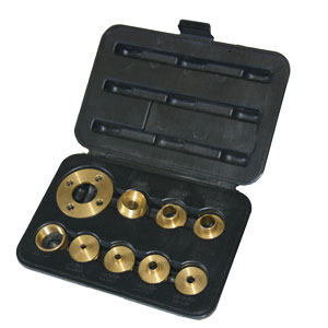 10 PIECE ROUTER BRASS TEMPLATE GUIDE KIT