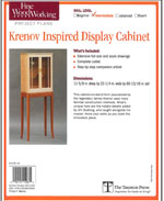 Krenov Inspired Display Cabinet