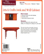 Arts & Crafts Desk and Wall Cabinet