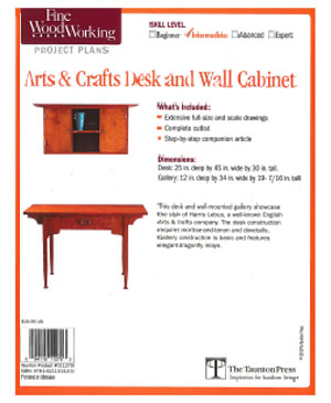Arts & Crafts Desk and Wall Cabinet Project Plan