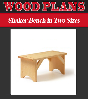 Shaker Bench in Two Sizes Woodworking Plan