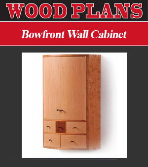 Bowfront Wall Cabinet Woodworking Plans