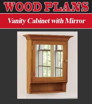 Vanity Cabinet With Mirror Woodworking Plan