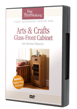 Arts and Crafts Glass-Front Cabinet