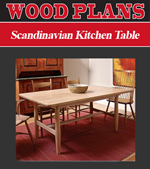 Scandinavian Kitchen Table Woodworking Plans