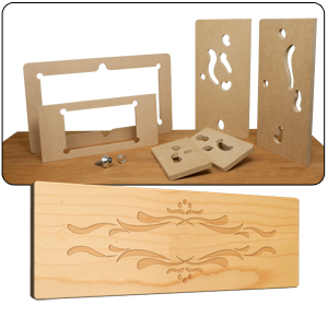 router lettering template sets - stone mountain router accessories