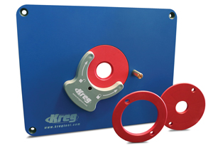 Kreg® Precision Router Table Plate with Level-Loc Rings