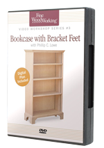 Bookcase with Bracket Feet