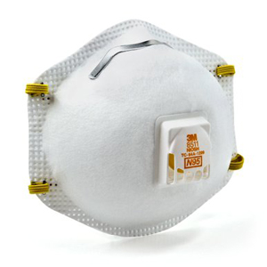 3m 2-pack disposable all-purpose valved safety mask