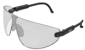 Clear Lens w/ Black Frame safety Glasses