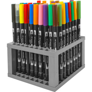 96 Peice Dual Brush Pen Set with Stand - 56149