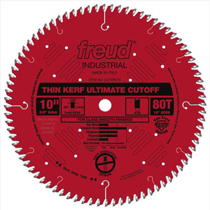 "10"" Industrial Thin Kerf Ultimate Cut-Off Blade - LU74R010"