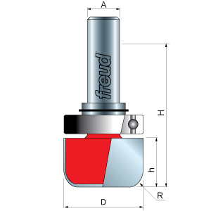 Dish Carving Router Bit with Top Bearing