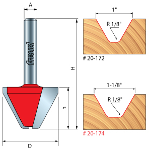 Freuds Lettering Router Bits