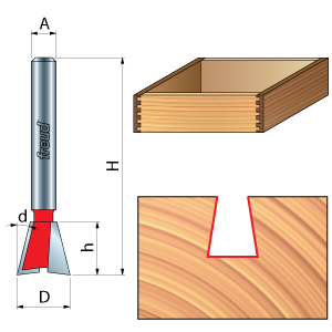 Freud Dovetail Router Bits