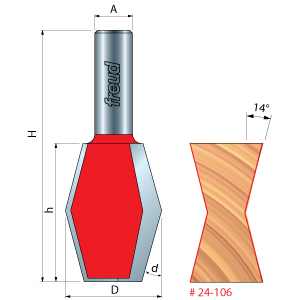 Butterfly Spline Router Bit
