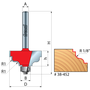 Double Fillet Ogee Router Bits