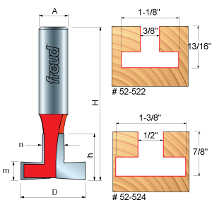 T-Slotting Cutter Router Bits