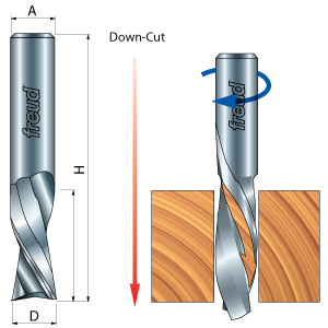 Down Spiral Solid Carbide Router Bit