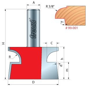 Door Lip Router Bit