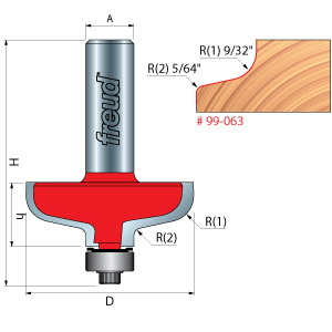 Freud Door Pull Lip Router Bits
