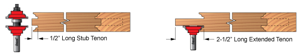 Showing Extended Tenon Example