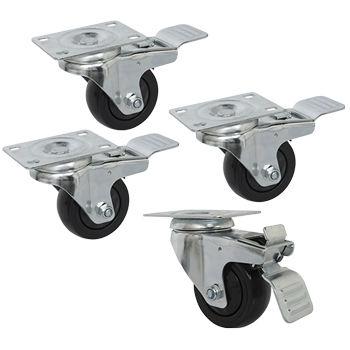 "3"" Double Locking Swivel Casters"