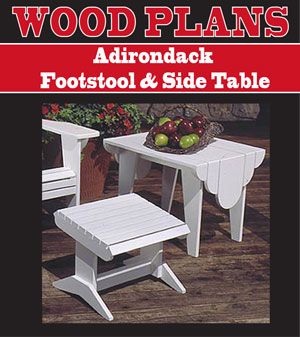 Outdoor furniture plans for Adirondack side table plans