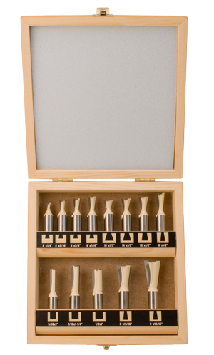 13 PieceDovetail Router Bit Set