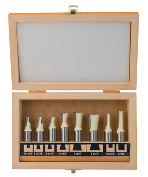 8 Piece Dovetail Router Bit Set