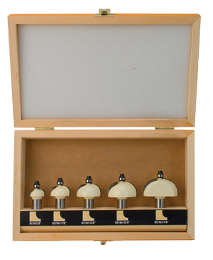 5 Piece Cove Router Bit Set