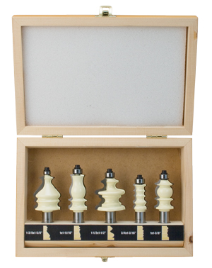 5 Piece Woodworker's Molding Router Bit Set