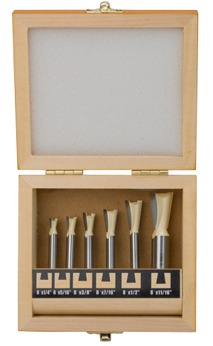 6 Piece Liegh® Jig Dovetail Router Bit Set