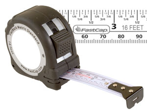 FastCap Flatback Standard / Metric 16' Tape Measure