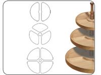 Bowl & Tray Three Tier Templates