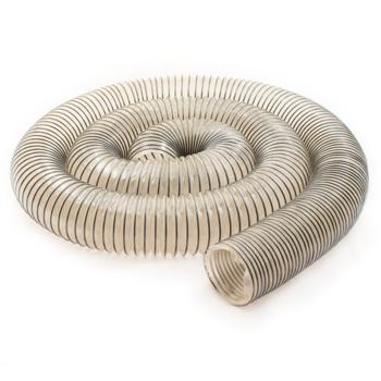 Powertec 3 inch 10 ft Heavy Duty Anti Static PVC Flexible Dust Collection Hose
