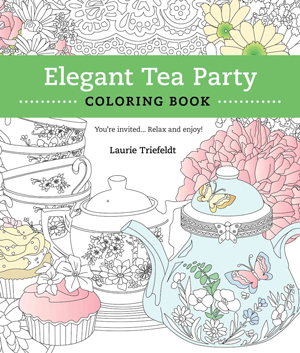 Elegant Tea Party: Adault Coloring Book