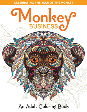 Monkey Business An Adult Coloring Book