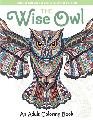 The Wise Owl: Adult Coloring Book